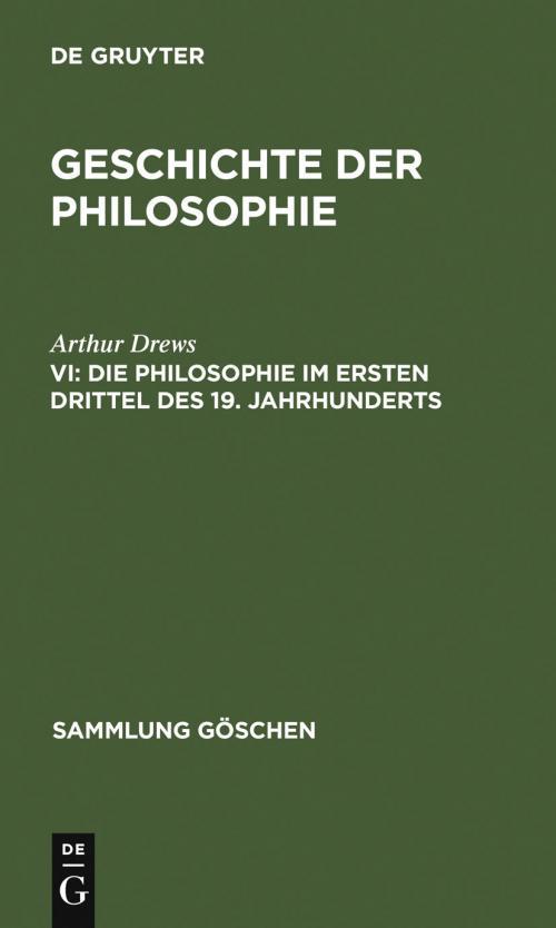 Die Philosophie im ersten Drittel des 19. Jahrhunderts cover