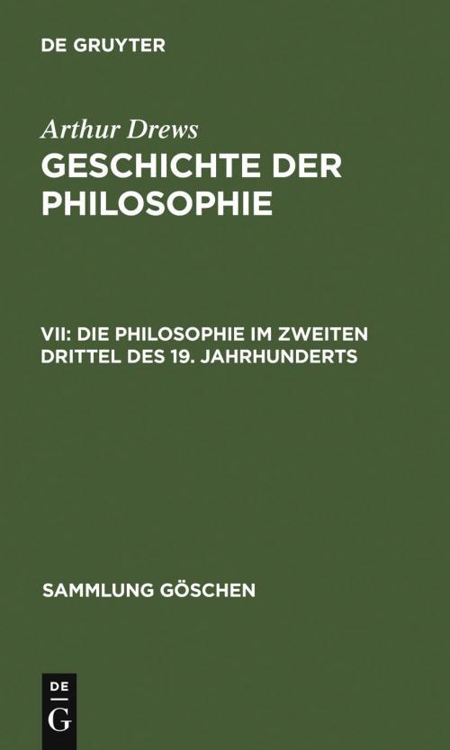 Die Philosophie im zweiten Drittel des 19. Jahrhunderts cover