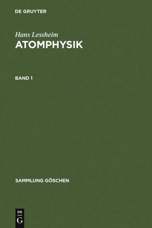 Atomphysik. Band 1 cover