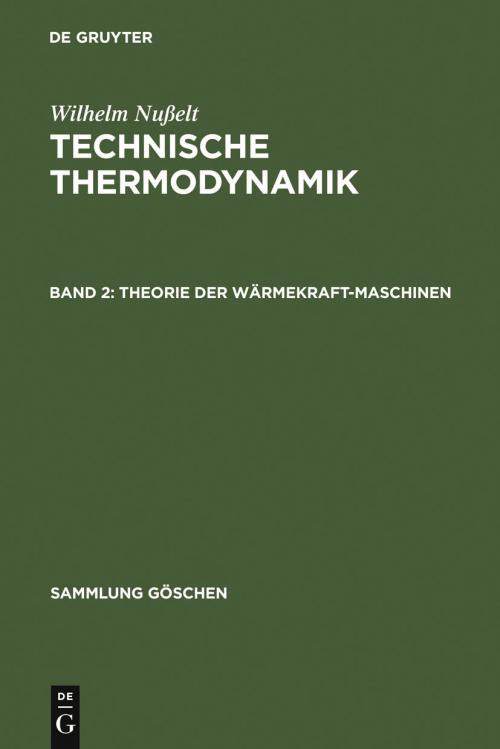 Theorie der Wärmekraftmaschinen cover