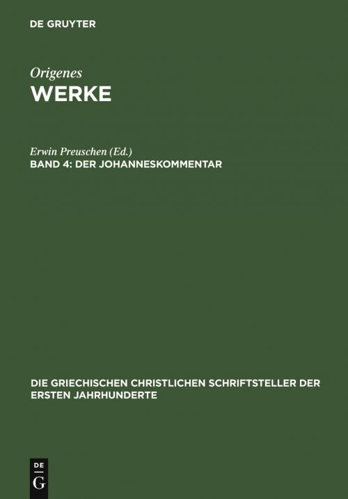 Der Johanneskommentar cover