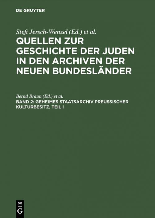 Geheimes Staatsarchiv Preußischer Kulturbesitz, Teil I cover