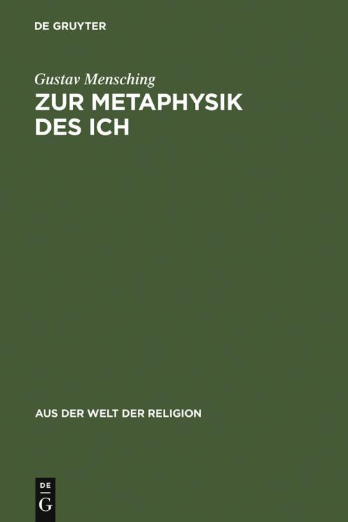 Zur Metaphysik des Ich cover