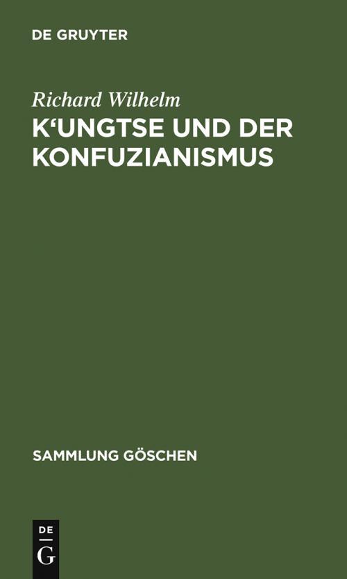K'ungtse und der Konfuzianismus cover