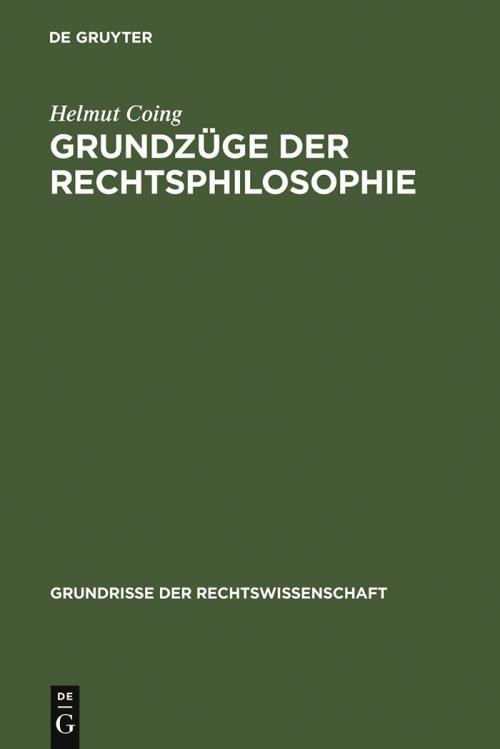 Grundzüge der Rechtsphilosophie cover