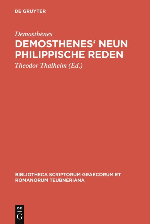 Demosthenes' Neun philippische Reden cover