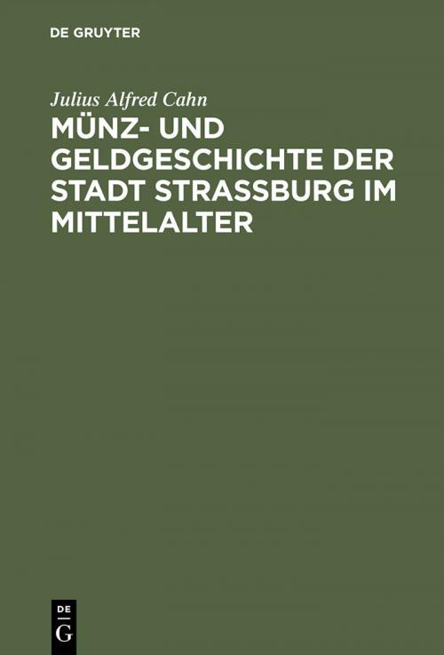 Münz- und Geldgeschichte der Stadt Strassburg im Mittelalter cover