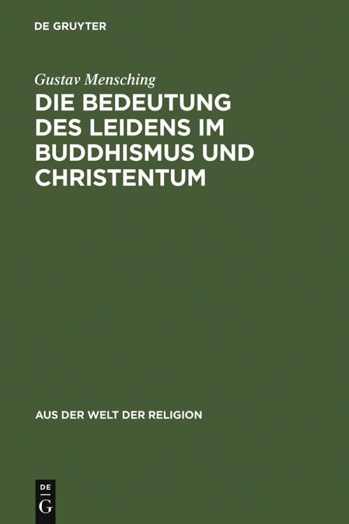 Die Bedeutung des Leidens im Buddhismus und Christentum cover
