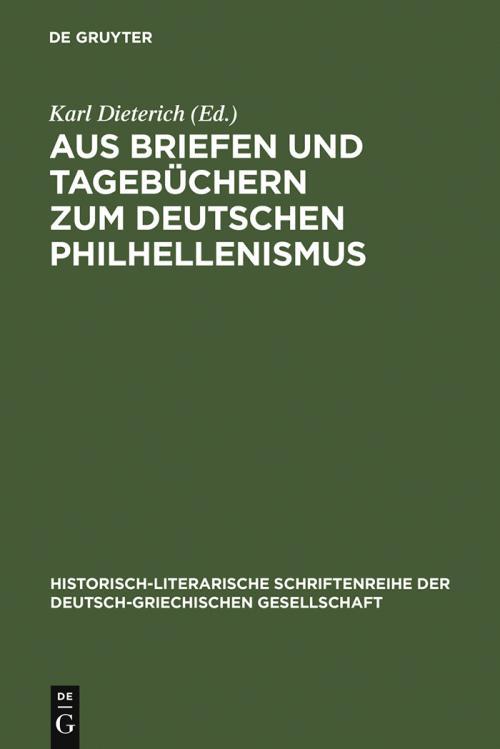Aus Briefen und Tagebüchern zum deutschen Philhellenismus cover