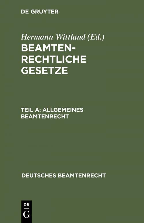 Allgemeines Beamtenrecht cover