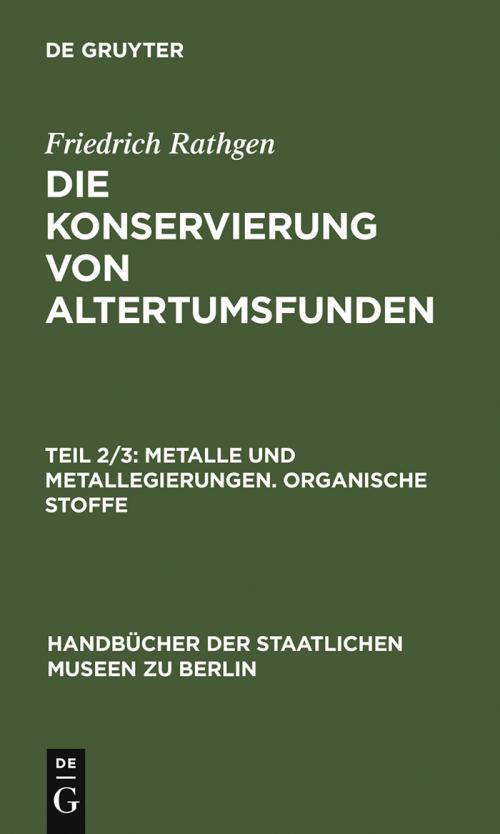 Metalle und Metallegierungen. Organische Stoffe cover