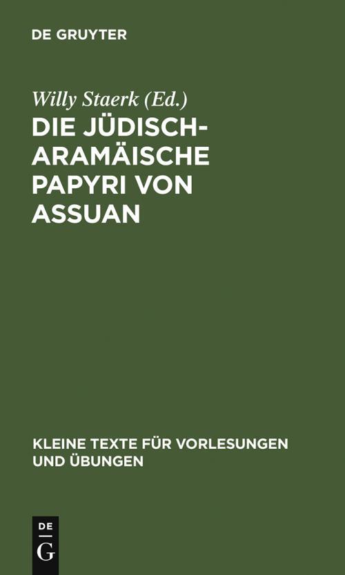 Die jüdisch-aramäische Papyri von Assuan cover