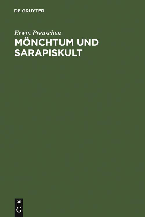 Mönchtum und Sarapiskult cover