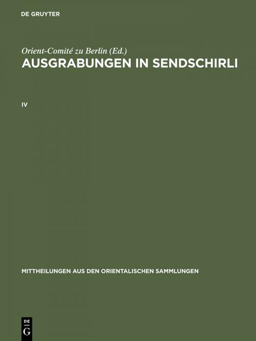 Ausgrabungen in Sendschirli. IV cover