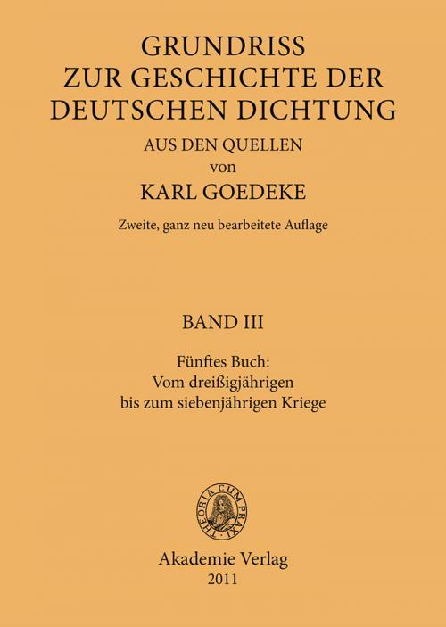 Fünftes Buch: Vom dreissigjährigen bis zum siebenjährigen Kriege cover