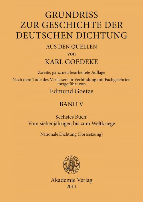Sechstes Buch: Vom siebenjährigen bis zum Weltkriege cover