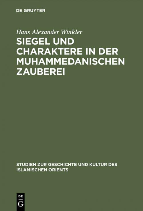 Siegel und Charaktere in der muhammedanischen Zauberei cover