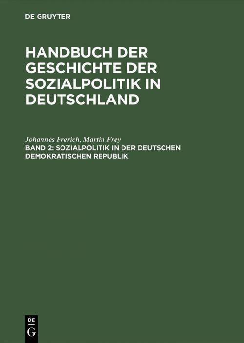 Sozialpolitik in der Deutschen Demokratischen Republik cover
