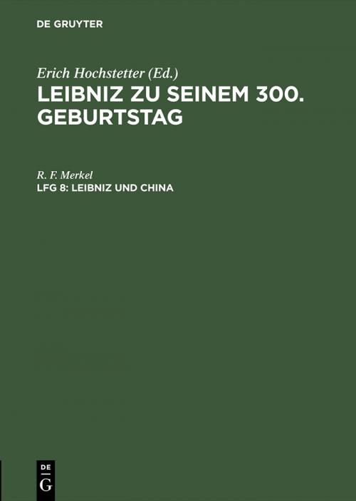 Leibniz und China cover