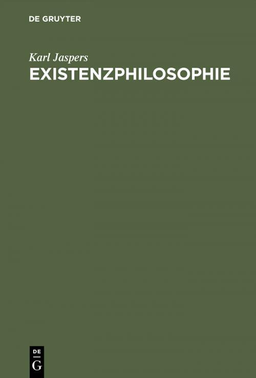 Existenzphilosophie cover