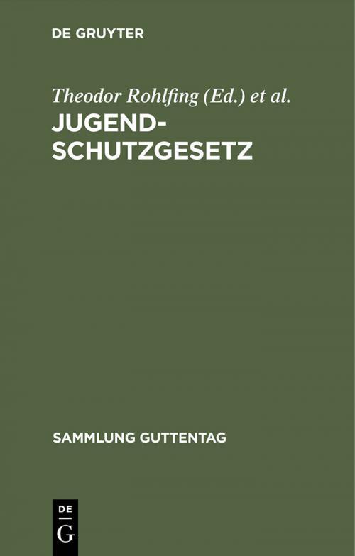 Jugendschutzgesetz cover