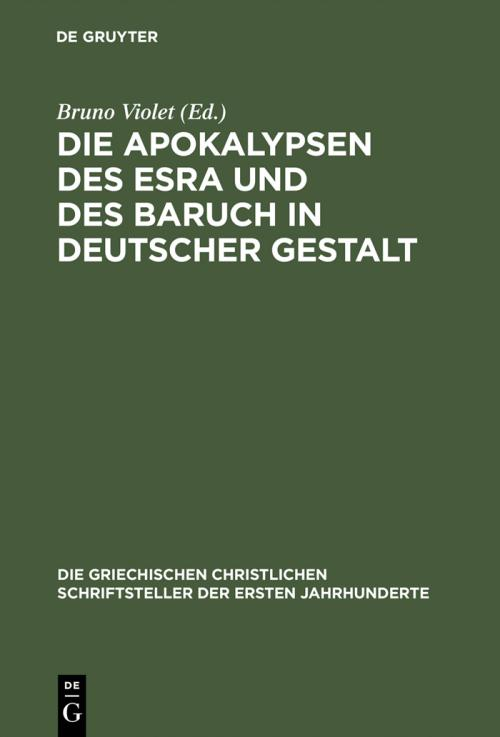 Die Apokalypsen des Esra und des Baruch in deutscher Gestalt cover