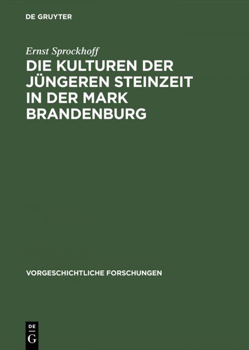 Die Kulturen der jüngeren Steinzeit in der Mark Brandenburg cover