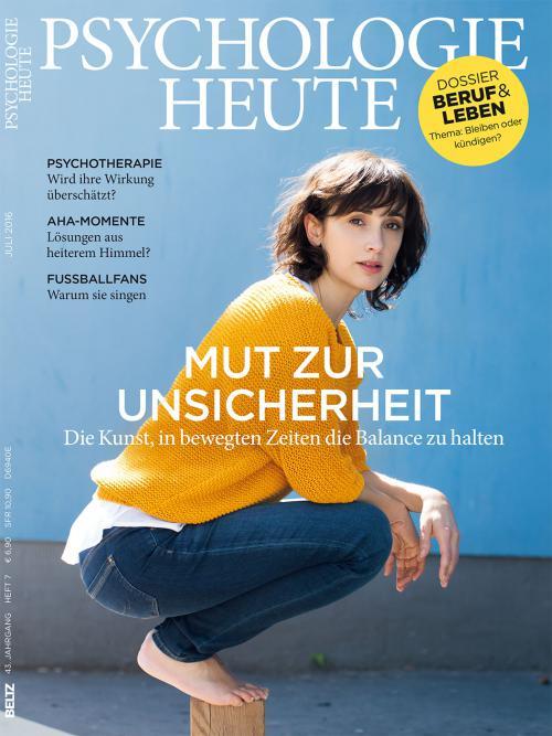 Psychologie Heute 7/2016 cover