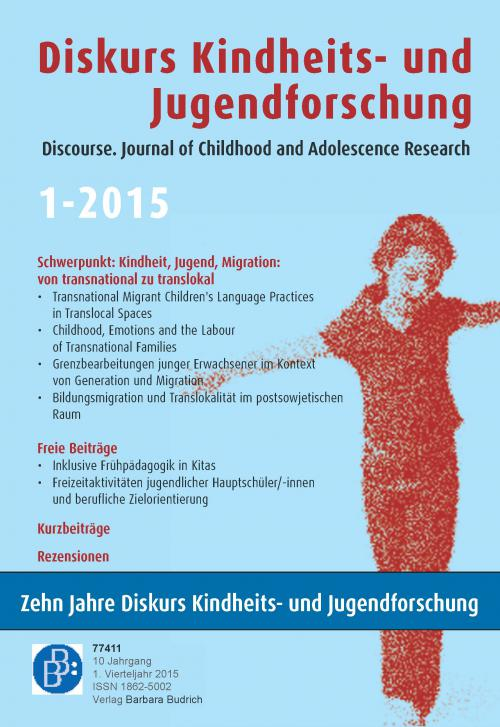 Diskurs Kindheits- und Jugendforschung 1/2015 cover