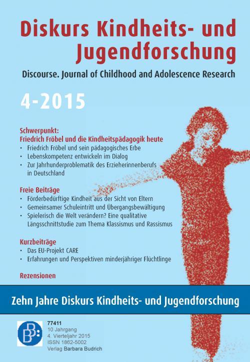 Diskurs Kindheits- und Jugendforschung 4/2015 cover