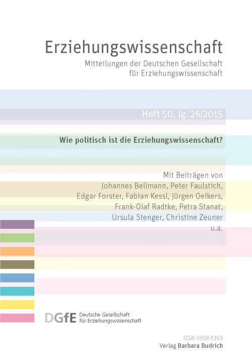 Erziehungswissenschaft 1/2015 cover