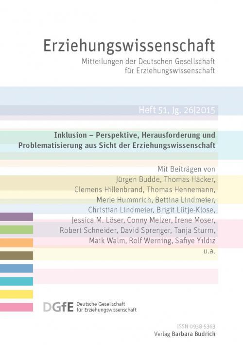 Erziehungswissenschaft 2/2015 cover