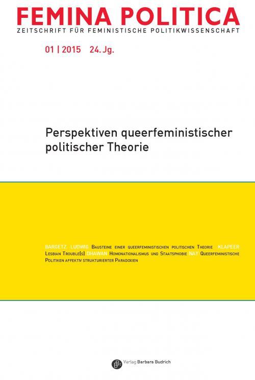 Femina Politica – Zeitschrift für feministische Politikwissenschaft 1/2015 cover