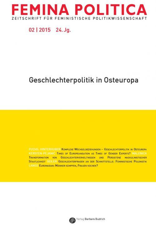 Femina Politica – Zeitschrift für feministische Politikwissenschaft 2/2015 cover