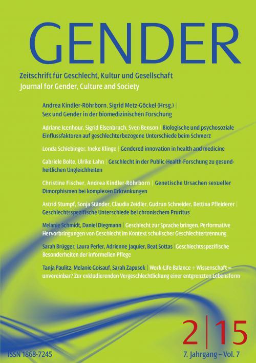 GENDER – Zeitschrift für Geschlecht, Kultur und Gesellschaft 2/2015 cover