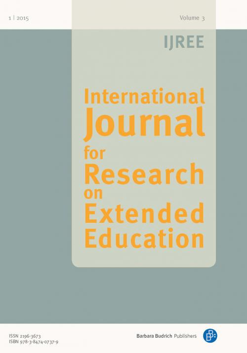IJREE – International Journal for Research on Extended Education 1/2015 cover