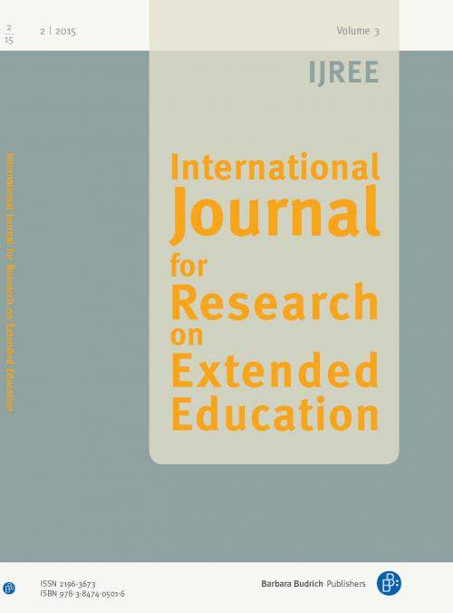 IJREE – International Journal for Research on Extended Education 2/2015 cover