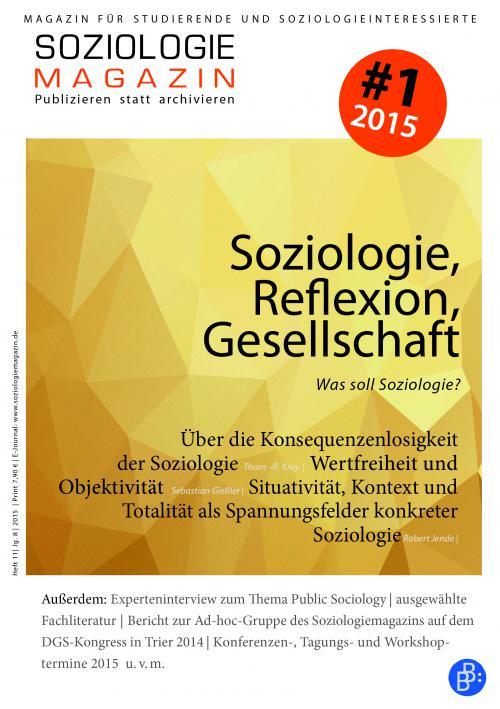 Soziologiemagazin 1/2015 cover