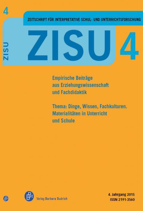 ZISU – Zeitschrift für interpretative Schul- und Unterrichtsforschung 1/2015 cover