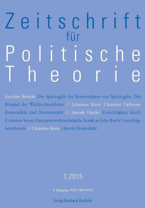 ZPTh – Zeitschrift für Politische Theorie 1/2015 cover