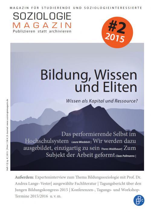 Soziologiemagazin 2/2015 cover