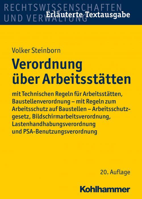 Verordnung über Arbeitsstätten cover