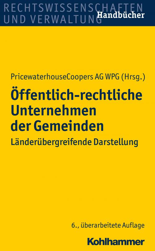 Öffentlich-rechtliche Unternehmen der Gemeinden cover