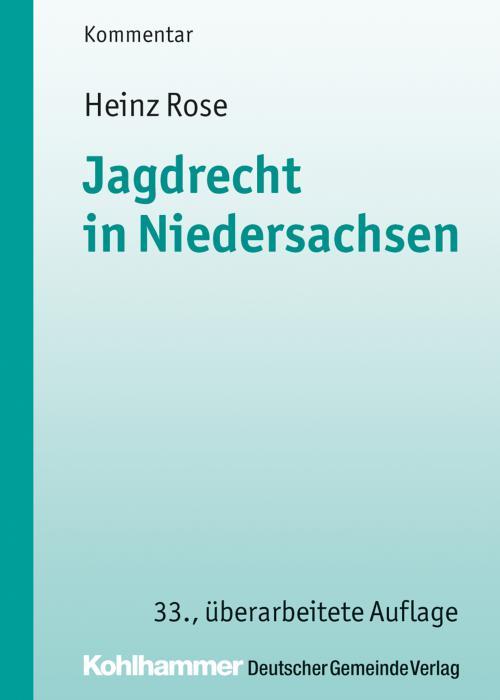 Jagdrecht in Niedersachsen cover