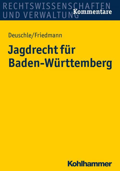 Jagdrecht für Baden-Württemberg cover