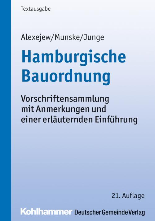 Hamburgische Bauordnung cover