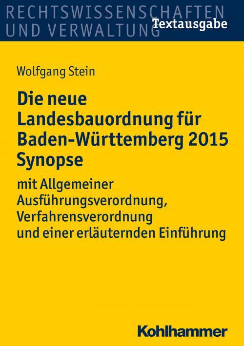 Die neue Landesbauordnung für Baden-Württemberg 2015 Synopse cover