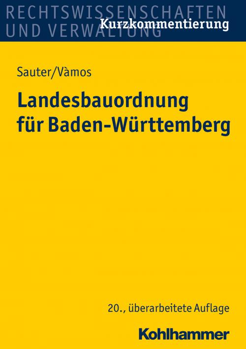 Landesbauordnung für Baden-Württemberg cover