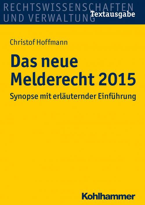 Das neue Melderecht 2015 cover