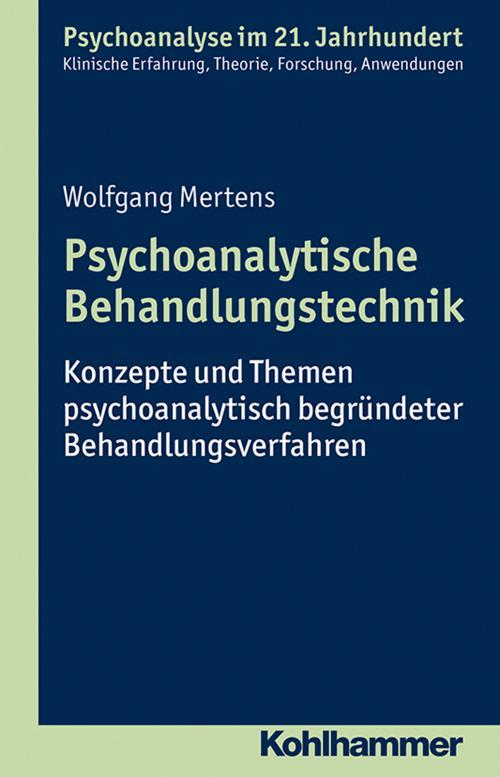 Psychoanalytische Behandlungstechnik cover